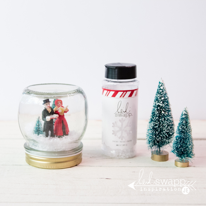 How to make @heidiswapp Christmas Snow Globes by @createoften