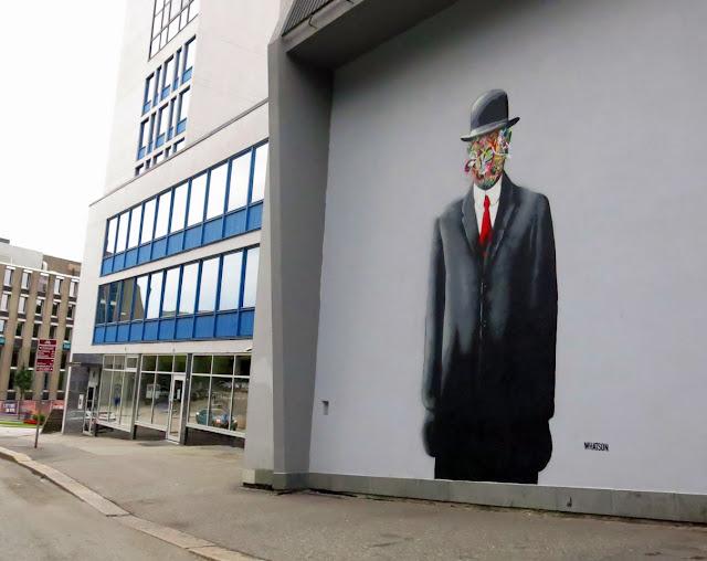 Street Art Murals By Martin Whatson In Stavanger Norway For Nuart Urban Art Festival. 3