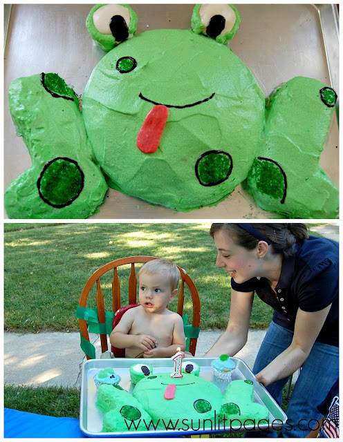 Frog birthday cake - one of 15 Awesome Birthday Cakes for Kids