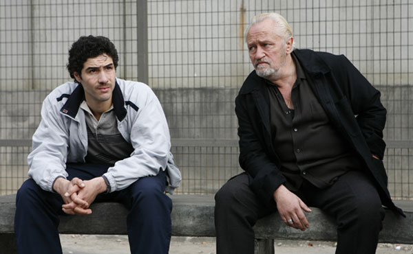 Tahar Rahim and Niels Arestrup in A Prophet