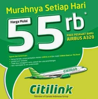 Promo tiket Travel | Airline terbaru di CITILINK [ Berlaku 19 Aug 2013 until 14 Apr 2014 ]