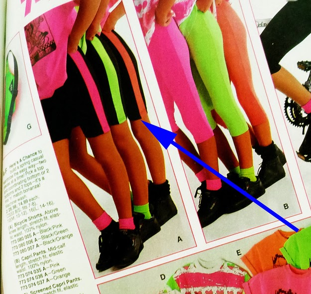 That it's perfectly acceptable to wear neon spandex biker shorts with just a T-shirt to school