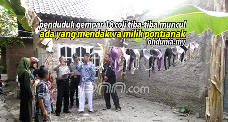 Penduduk Kampung Gempar Temui 18 Coli Didakwa Milik Pontianak