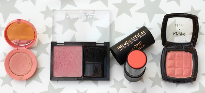 Blusher selection from the high street