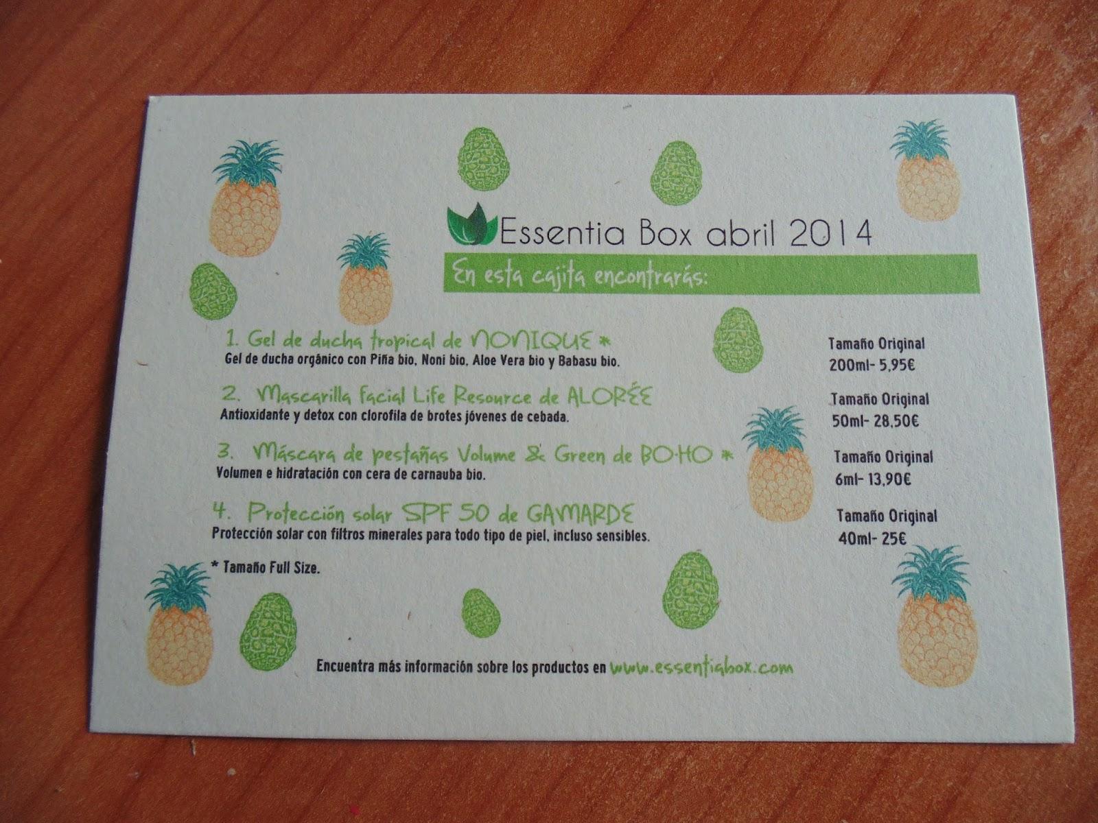 Essentia Box Abril 3