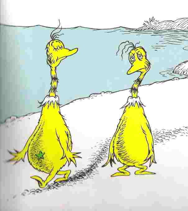 the star bellied sneetches analysis Sneetches on beaches by aaron houck star-bellied or no, sneetches are sneetches and they all must live together on the beaches that is, as they had more interactions with different-bellied sneetches, their levels of out-group trust increased.