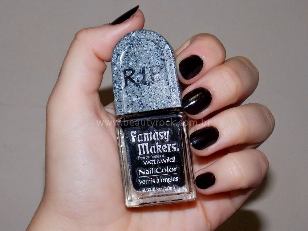 Esmalte Lápide, Tumulo, RIP - Perle Noire (Black Pearl) - Fantasy Makers nail polish, lacquer - Halloween