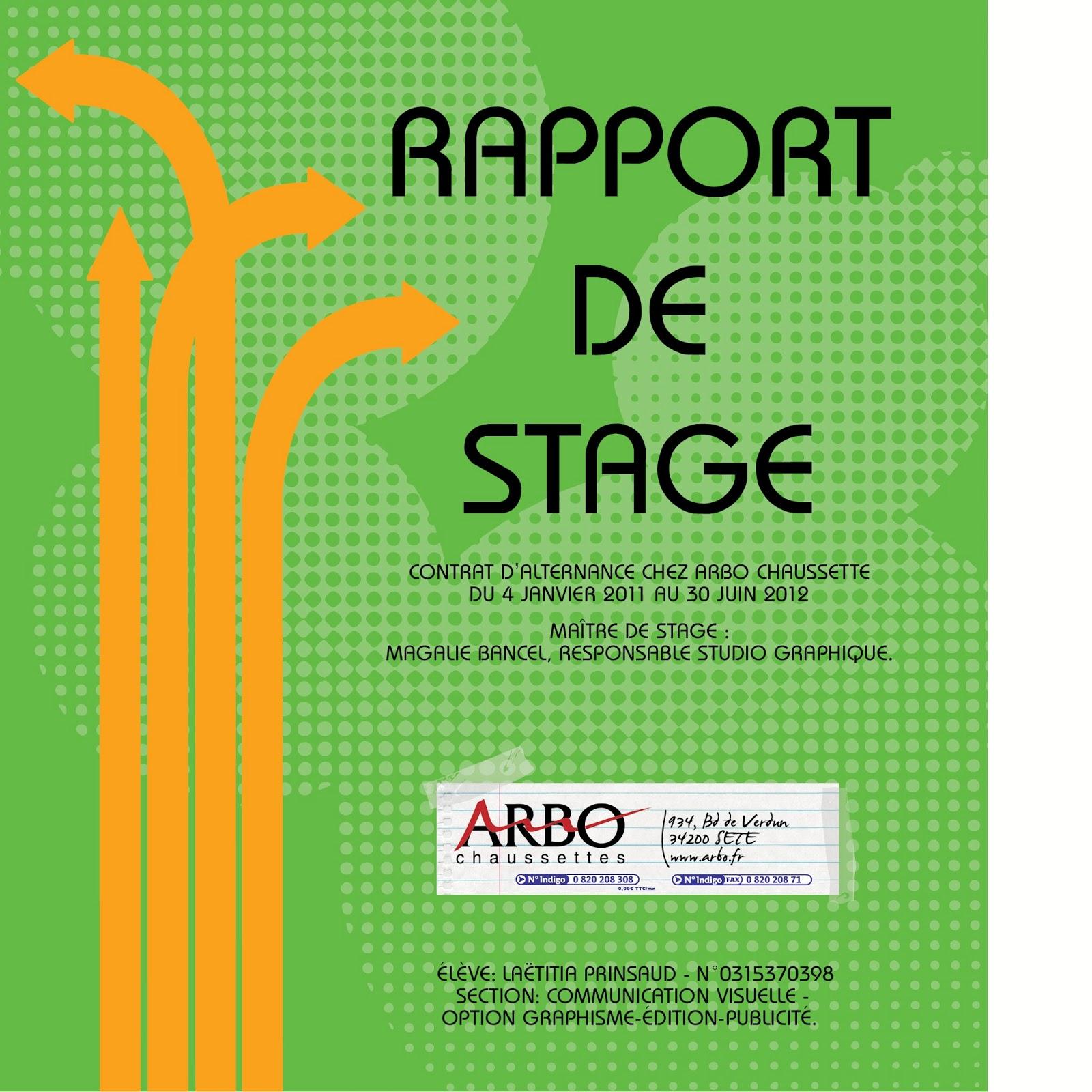 Rapport de stage joy studio design gallery best design for Rapport de stage en cuisine exemple