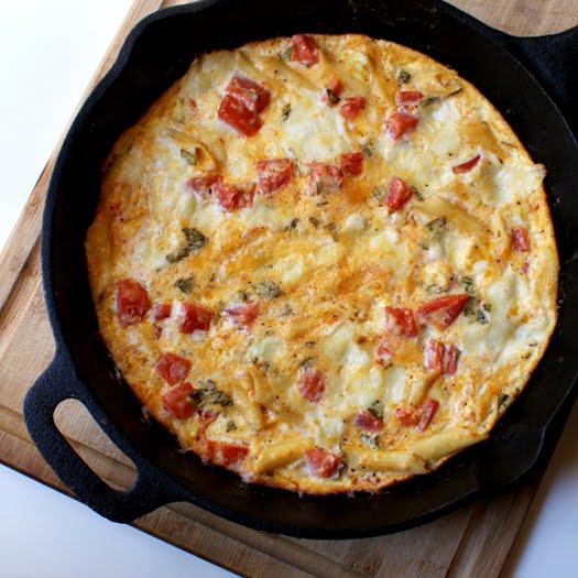 Pasta Frittata made with your leftover pasta!