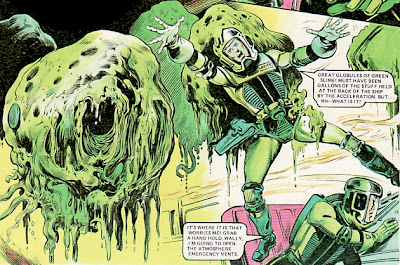 Dan Dare slime, spaceship, Massimo Belardinelli, 2000AD Annual, 1978