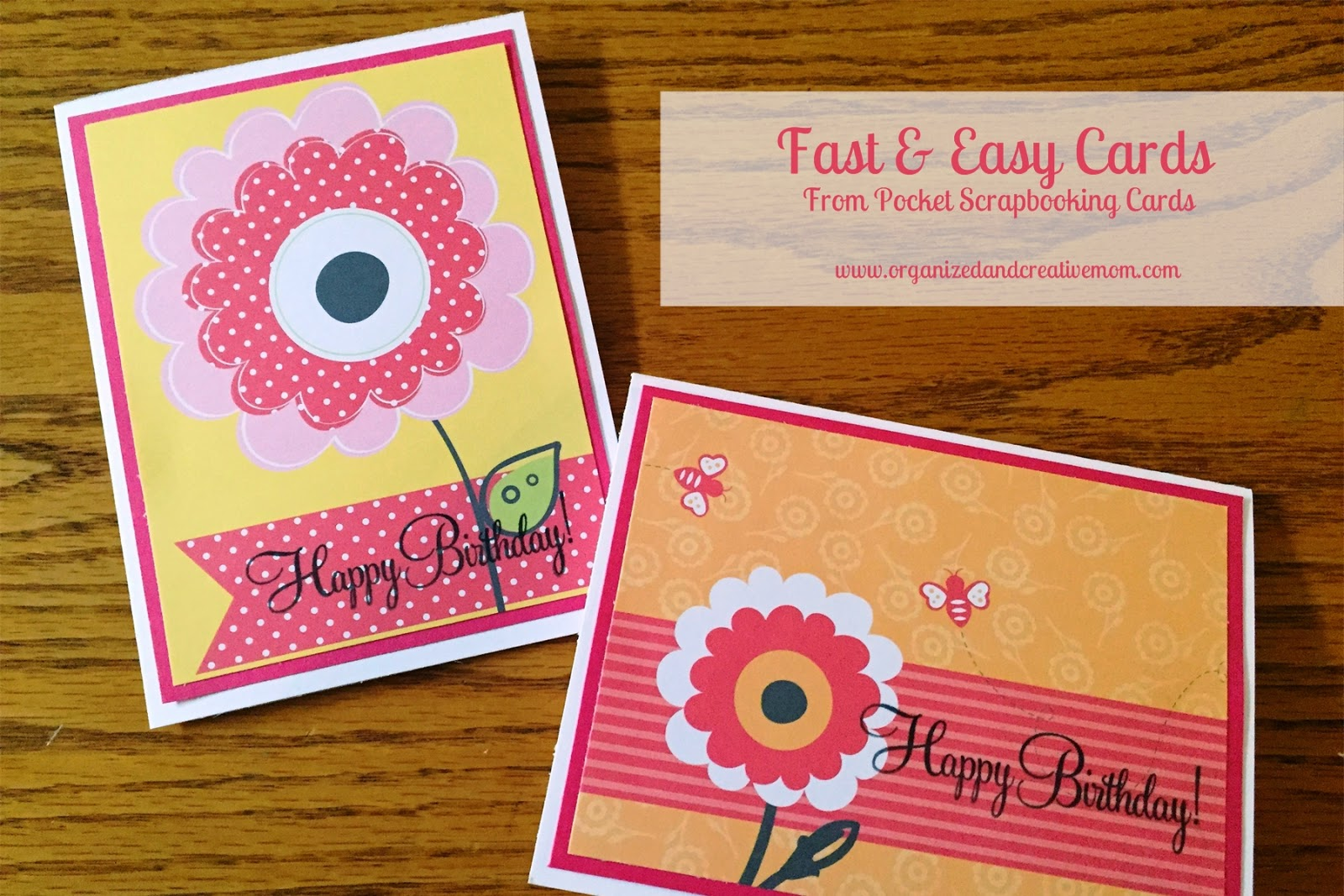 Fast And Easy Cards Organized Creative Mom