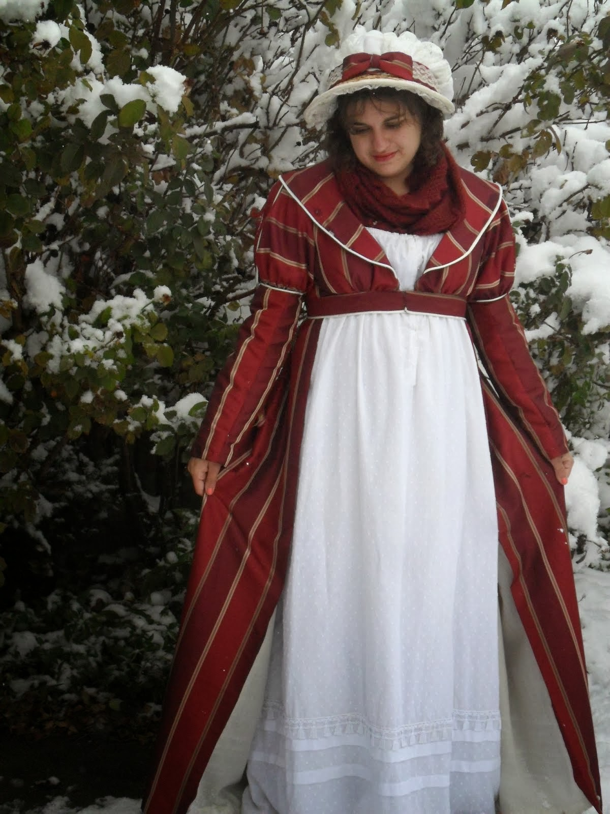 Red Regency Pelisse
