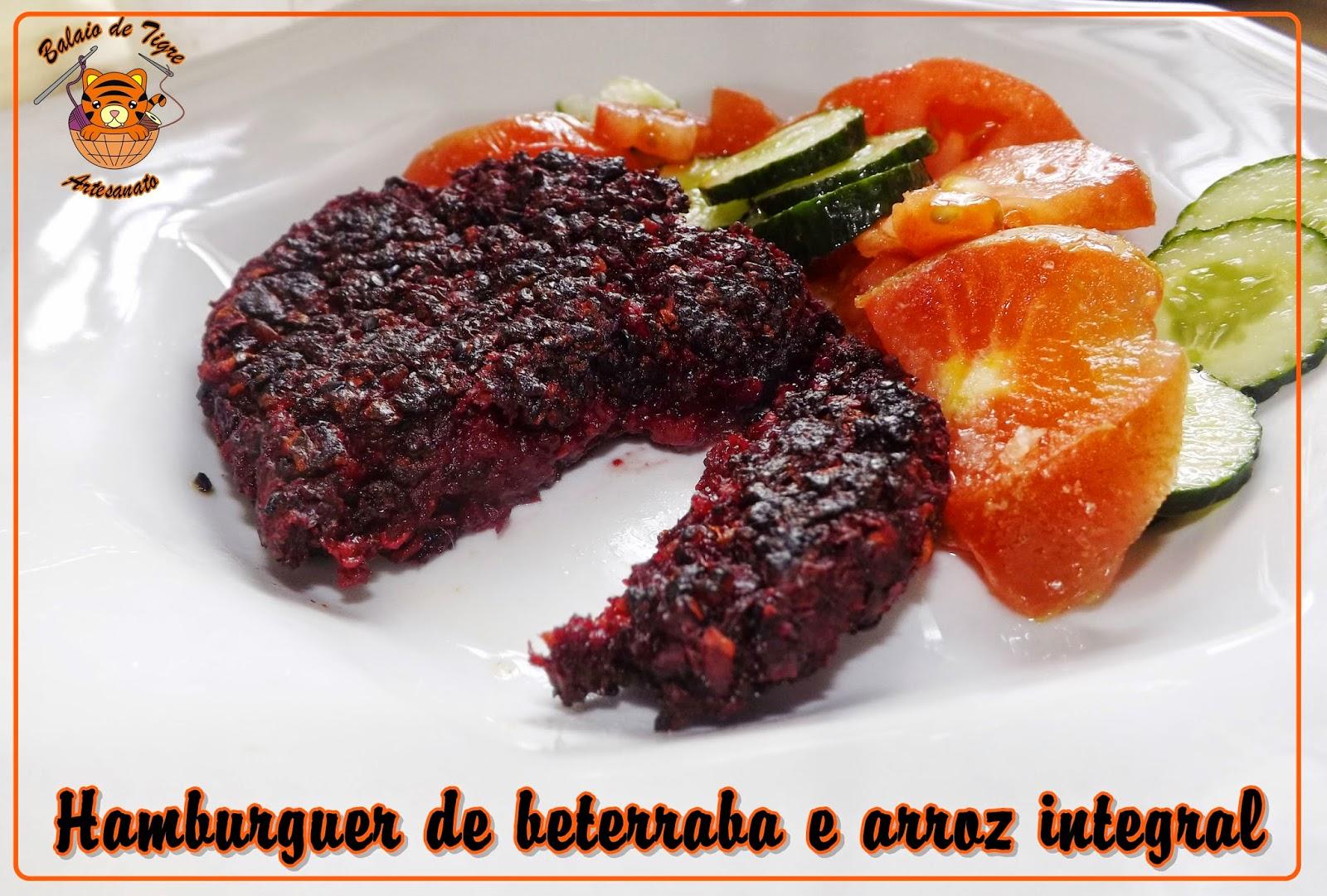 hamburguer vegetariano beterraba balaio de tigre