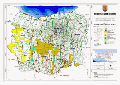 Peta Rencana Ruang Terbuka Hijau (RTH) Kota Semarang