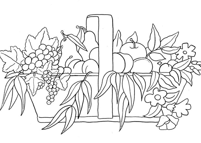 LAMINAS PARA COLOREAR - COLORING PAGES: Frutas para dibujar pintar