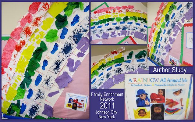 Photo of: Rainbow Bulletin Board from Collage Materials