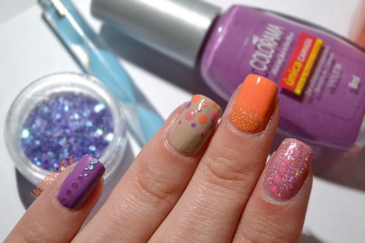 Round Glitter Born Pretty Store - Skittle Nail Art