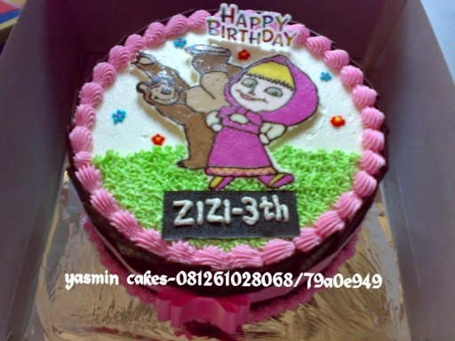 Cake ulang tahun masha