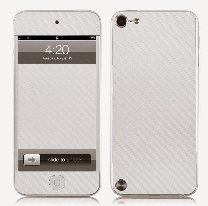 Carbon Fibre Skin Vinyl Decal Full Body Wrap for Apple iPod Touch 5 5th Gen