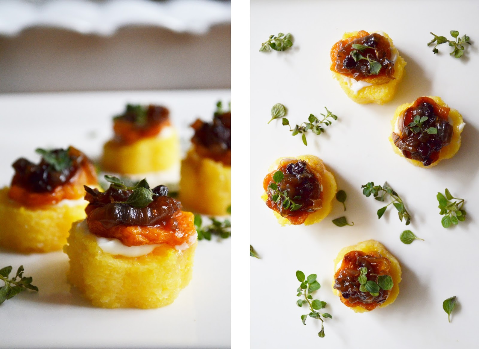 Miso coco polenta canapes for Canape ingredients