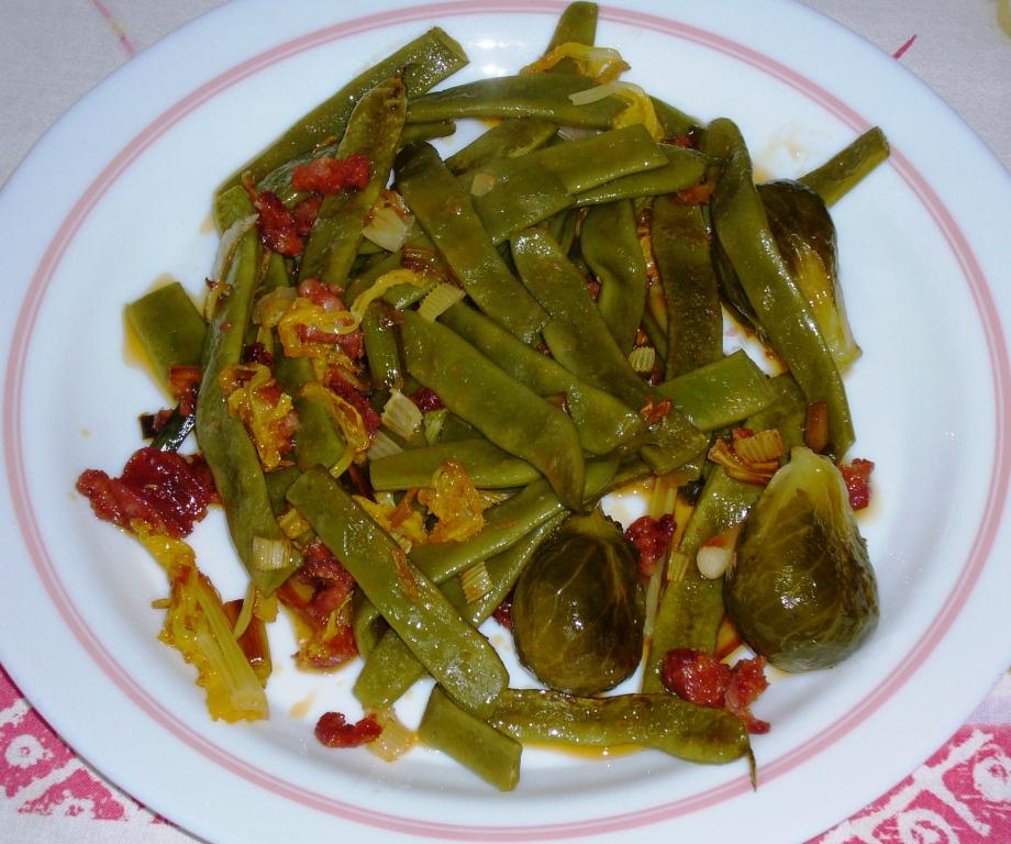 Qu hago para comer judias verdes salteadas con chorizo - Tiempo coccion judias verdes ...