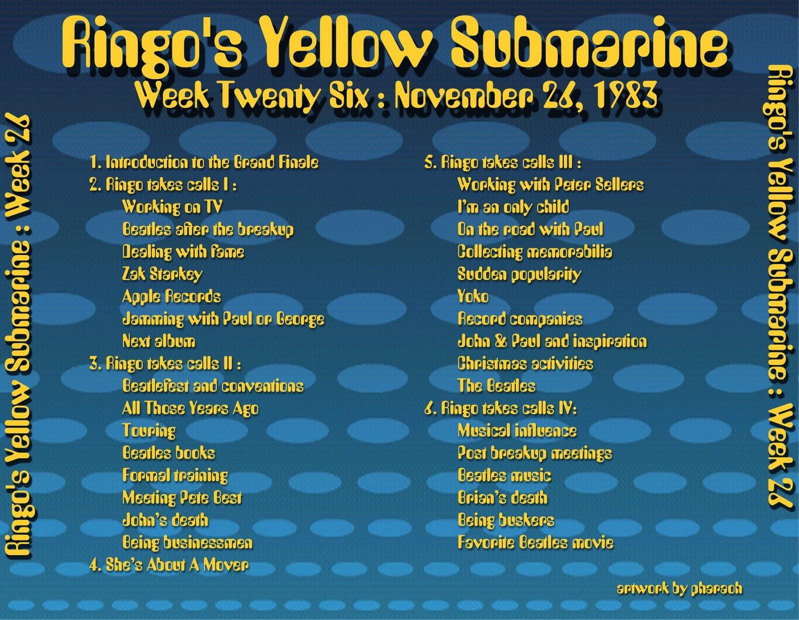 Beatles Radio Waves: 1983 11 26 Ringo's Yellow Submarine 26 #B69915 1600 1242