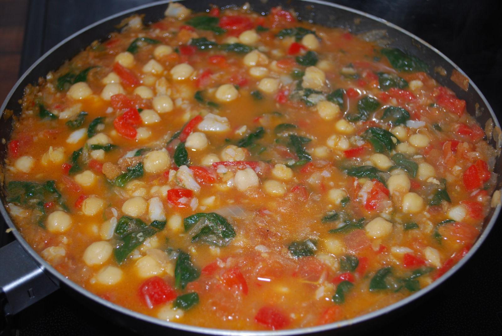 Mi receta de la semana garbanzos con bacalao y espinacas - Garbanzos espinacas bacalao ...