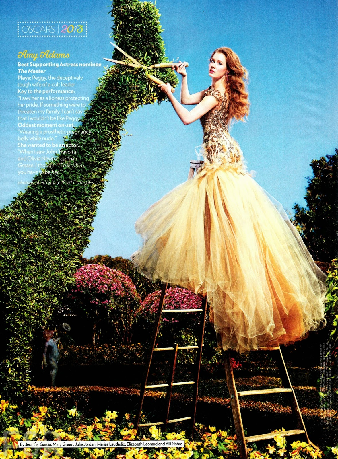 Magazine Photoshoot : Jessica Chastain & Amy Adams Photoshot For People Magazine February 2013 Issue