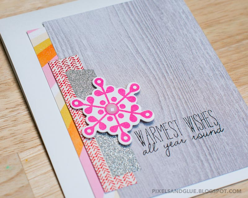 Happy Scrappy Friends | Winter card by @pixnglue