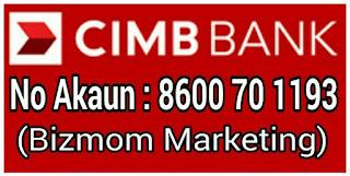 klik untuk terus ke CIMB clicks