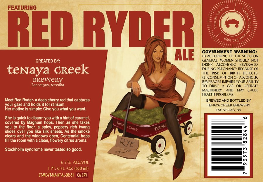 Beer Label with Red