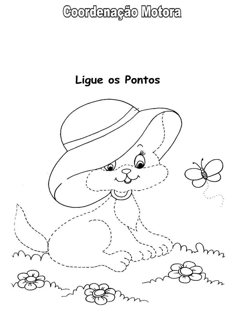 Desenhos Para Colori Ligar pontos cão e gato desenhar