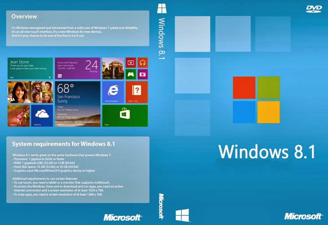 Windows 8.1 Untouched ISO (x64) Cover