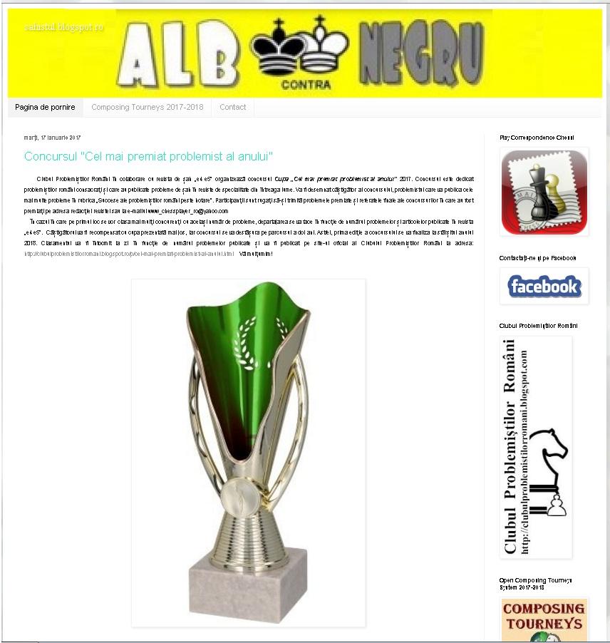 Vizitaţi sahistul.blogspot.ro