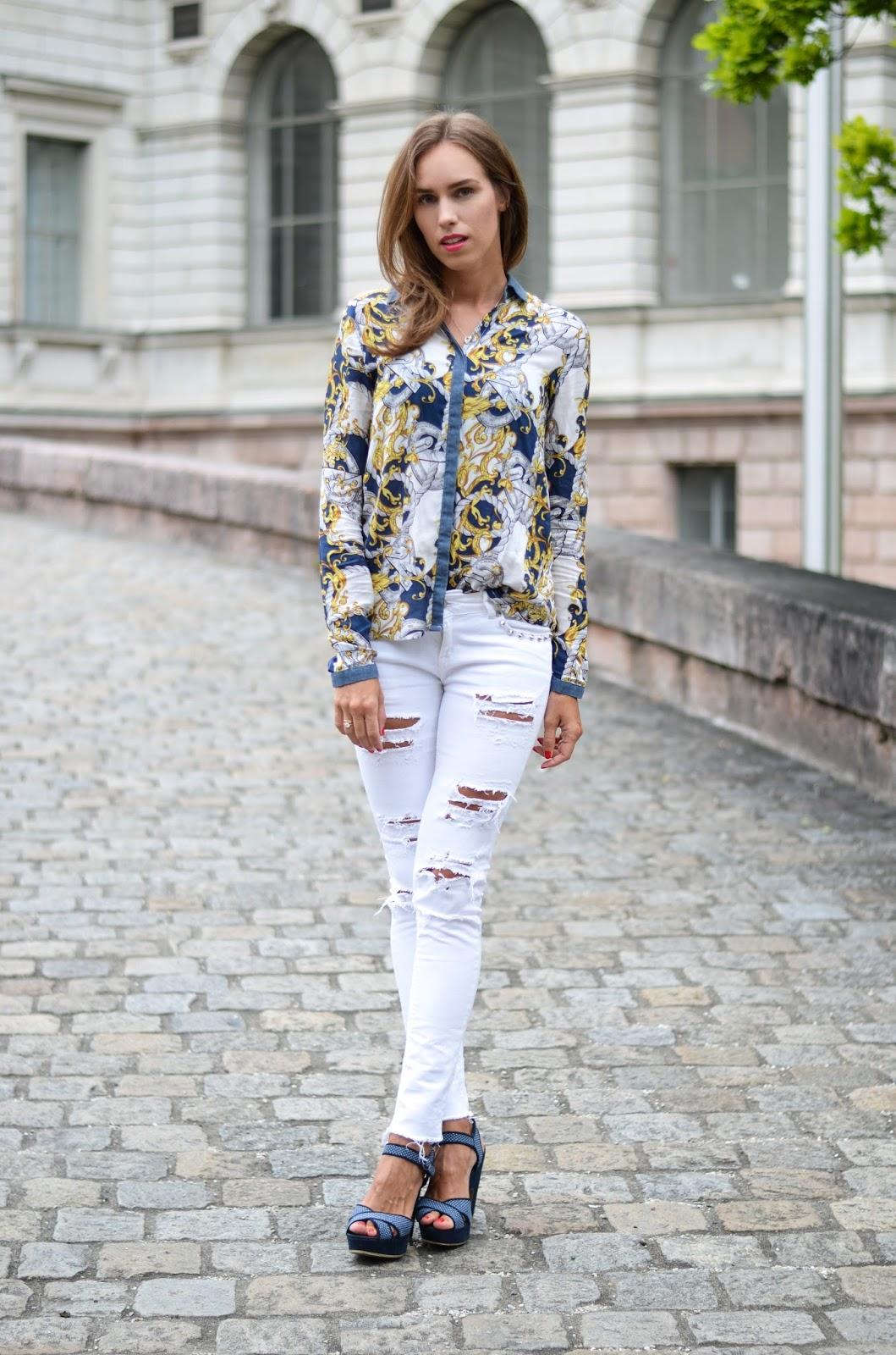 kristjaana mere stradivarius shirt gina tricot jeans