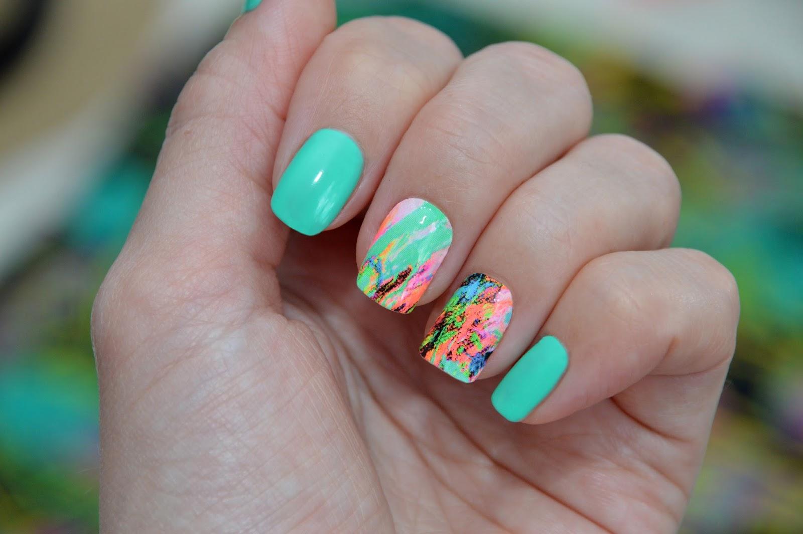 Мятный цвет ногти дизайн