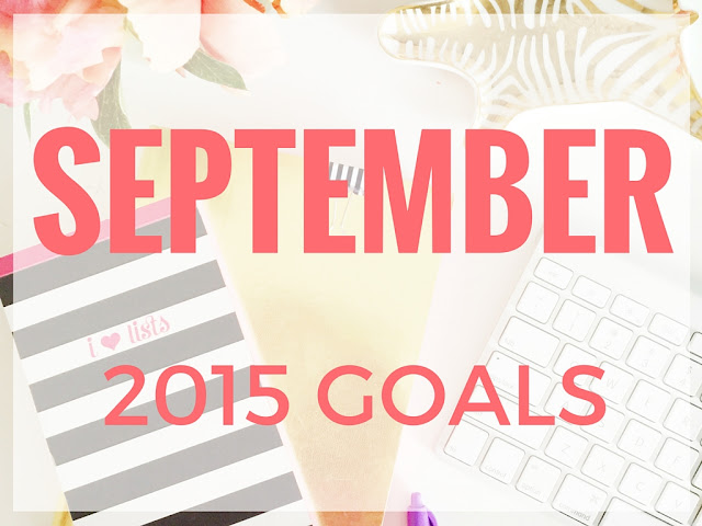 Monthly non blogging goals