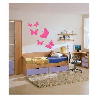 Dormitorios con mariposas dormitorios con estilo for Pegatinas habitacion nina