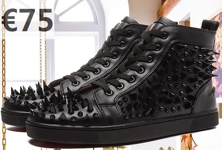 black spiked christian louboutin - Louis-Louboutin-Noir-Cuir-bottes montantes-clout��es-Femme-Baskets-2015-Sneakers-2011.jpg