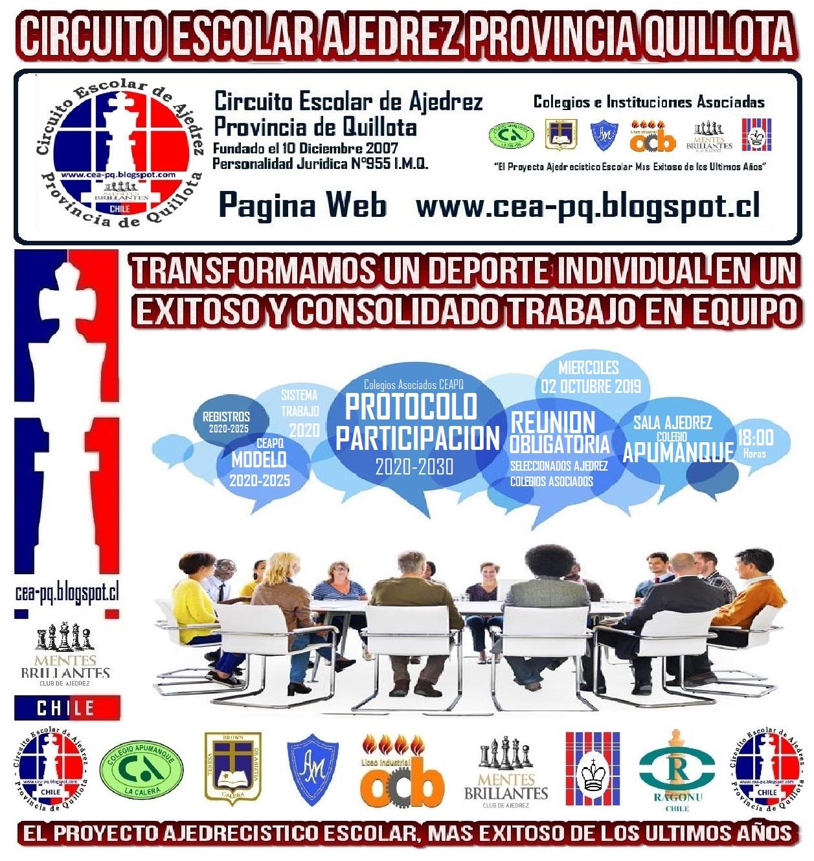 REUNION APODERADOS SELECCIONADOS COLEGIOS ASOCIADOS CEAPQ