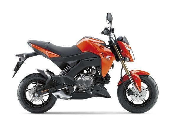 Kawasaki Z125 Orange Street Fighter mini