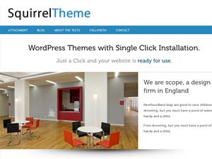 Squirrel free wordpress theme