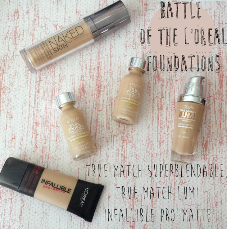 L'Oreal True Match Super Blendable W5 sand beige W3 Nude Beige swatches review,
