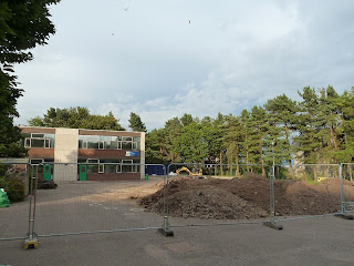 Site Under Construction for Relocated Nursery Unit at Barnhill Primary School