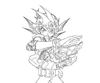 #9 Yuma Tsukumo Coloring Page