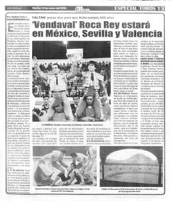 pagina taurina diario el men