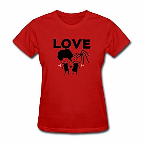 C-DIY Women's T-shirts Create Cool LOVE Text Lovely Couple Tshirts White