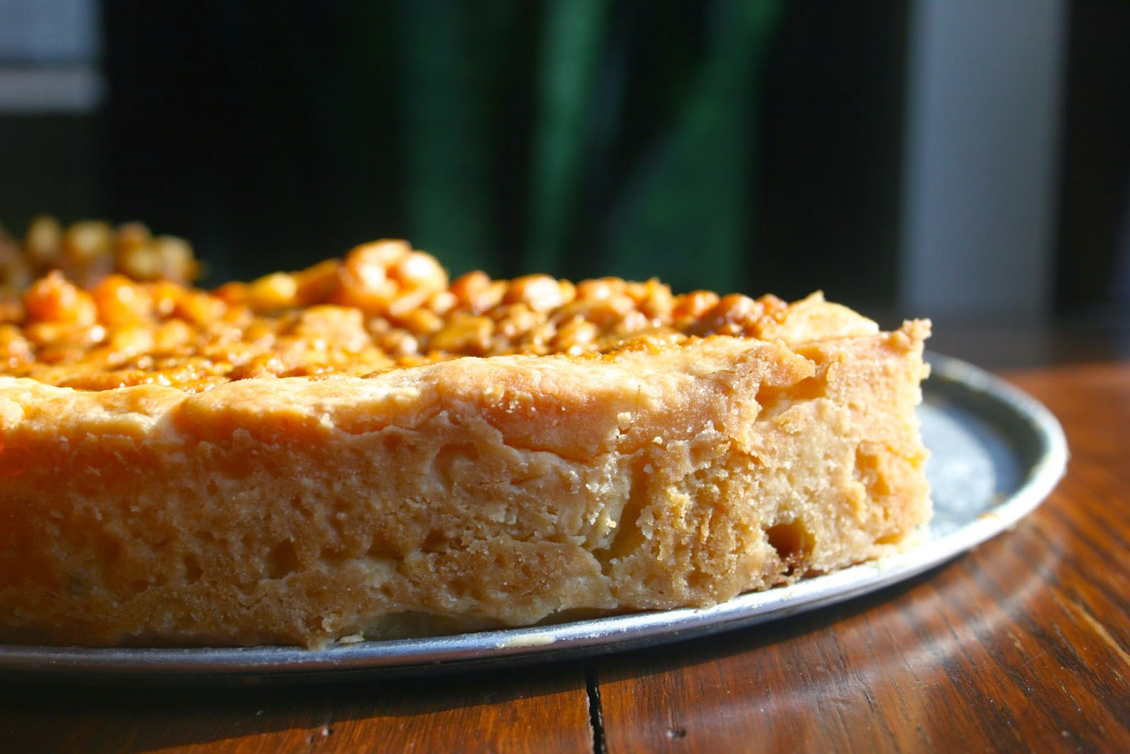 Pine Nut and Honey Tart Crust, Side View