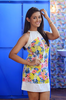 Actress Pooja Jhaveri Latest Picture Shoot Gallery in Floral Short Dress  041