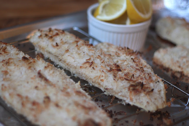 Coconut Almond Crusted Haddock recipe by Barefeet In The Kitchen